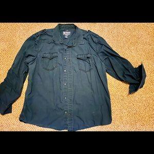 Men's blue long sleeve button up America Rag shirt